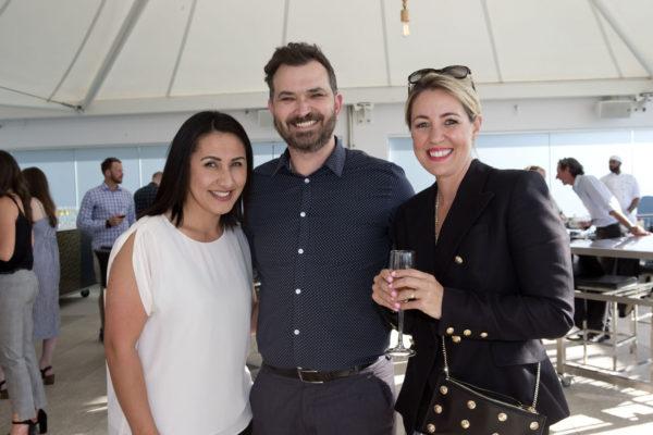 Carrane Gascoigne and Ryan Novak from EVENT Cinemas with NSPR team member Jessica Griffin