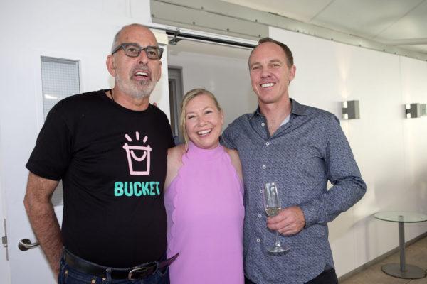 Malcom Rands, NSPR's Lynda Millward and Mark Todd, co-founder from Ockham Residential